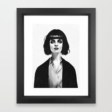 Mrs Mia Wallace Framed Art Print