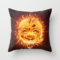 The Sun (Young Star) Throw Pillow