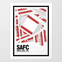 Roker Park - That Wild Roar Art Print