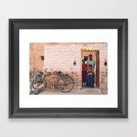 Happy Birthday Holi Framed Art Print