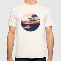 Paradise Sunset Mens Fitted Tee Natural SMALL