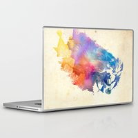 watercolor Laptop & iPad Skins featuring Sunny Leo   by Robert Farkas