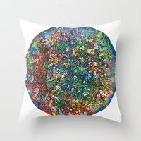Planet Phoenix - Gouache on paper Throw Pillow