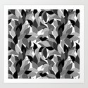 My grey leaves.  Art Print