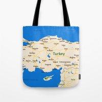 Turkey Map Design Tote Bag