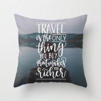 Wanderlust - Hand Lettering Throw Pillow