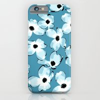 iPhone & iPod Case featuring Dogwood Floral: Teal by Eileen Paulino