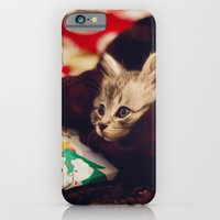 christmas kitten iPhone 6 Slim Case