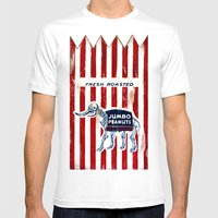 Jumbo Peanuts Mens Fitted Tee White SMALL