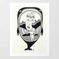 Inside the whale Art Print