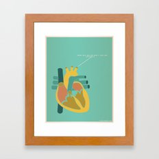 Aorta Tell You How Much I Love You Framed Art Print