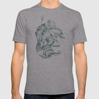Poseidon Mens Fitted Tee Athletic Grey SMALL