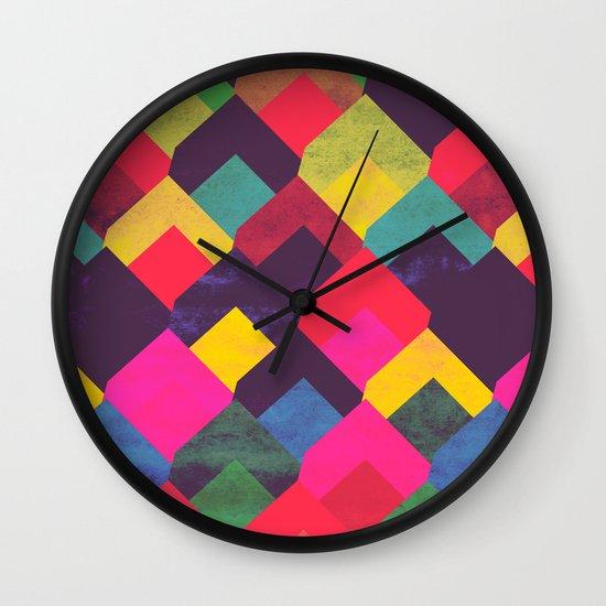 colour + pattern 11 Wall Clock