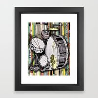 Drum Kit Framed Art Print