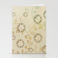 Time On Time Vintage  Stationery Cards