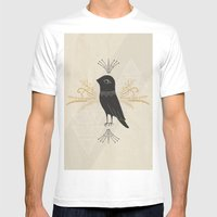 Black Bird Mens Fitted Tee White SMALL