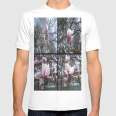 Blossoms Mens Fitted Tee SMALL White