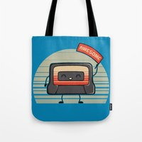 Cute Mix Tape Tote Bag
