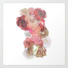 La Virgen de Guadalupe series: Las Rosas Art Print