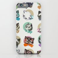 iPhone Cases featuring Cats & Bowties by Zeke Tucker
