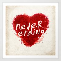 Never Ending Love Art Print