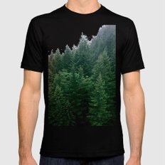 green Black SMALL Mens Fitted Tee