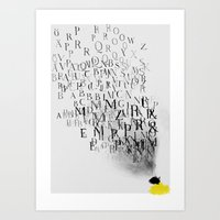 Typography And  The Blac… Art Print