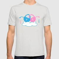 Forever Mens Fitted Tee Silver SMALL