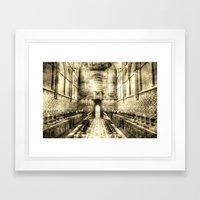 Rochester Cathedral Vintage Framed Art Print