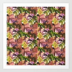 Welcome to the Jungle Palm Aubergine Art Print