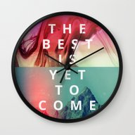 Wall Clock featuring The Best Is Yet To Come by Eolia