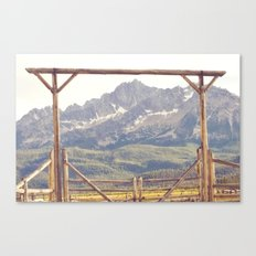 Western Mountain Ranch Canvas Print