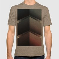 Color Cube Mens Fitted Tee Tri-Coffee SMALL