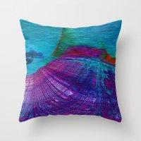 Undersea Exploration Throw Pillow
