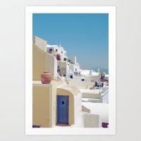 Santorini Door VIII Art Print