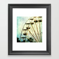 Ride Into The Sunset Framed Art Print
