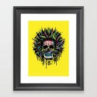 Magical Voodoo Skull Warrior Framed Art Print