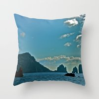 The Waters Of The Amalfi… Throw Pillow