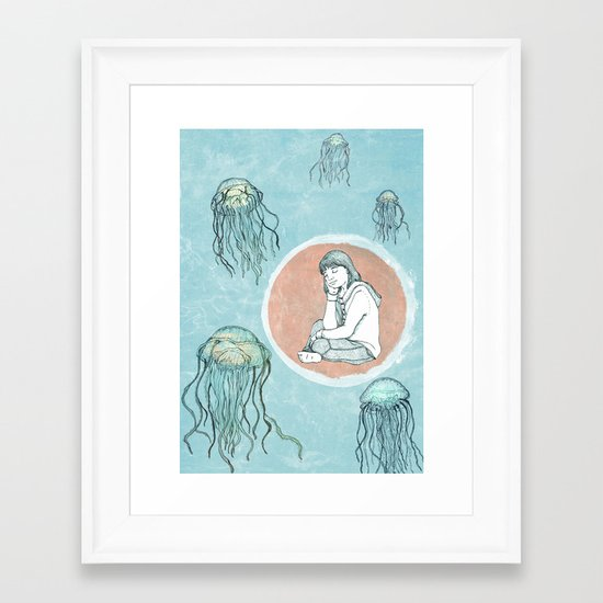 Jellyfish dreams Framed Art Print