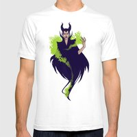 Maleficent Mens Fitted Tee White SMALL