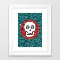 Skull Poppy Framed Art Print