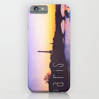 iPhone & iPod Case featuring Sunset over Seine River, Paris by Bolu By Rima