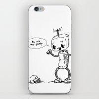 Loving Robot iPhone & iPod Skin