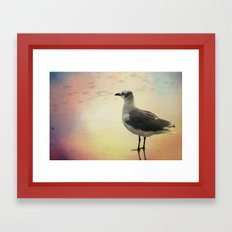 Drowning In Happy Delusion Framed Art Print