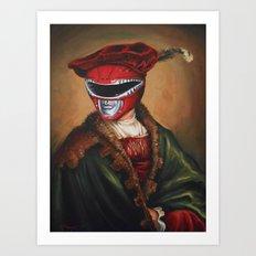 Portrait Of A Stately Ranger Art Print
