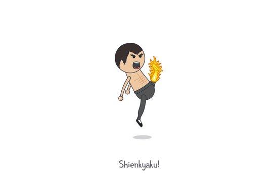 Shienkyaku! Flame Kick! Canvas Print