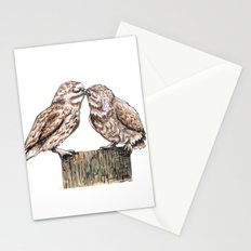 Owls kiss Stationery Cards
