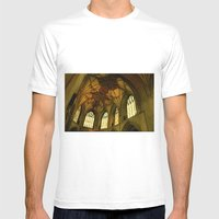 Tewkesbury Abbey Mens Fitted Tee White SMALL