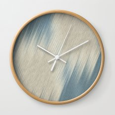 Beige diagonal lines  Wall Clock