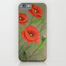 Poppies-3 iPhone 6s Slim Case